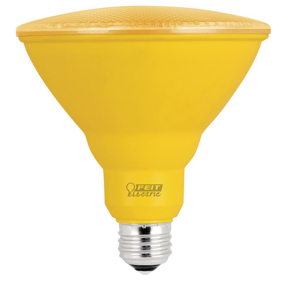 90W Equivalent Yellow PAR38 Spot LED Light Bulb (Case of 4)