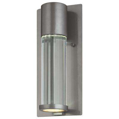 Soare 1-Light Tinted Silver Outdoor Wall Mount Lantern