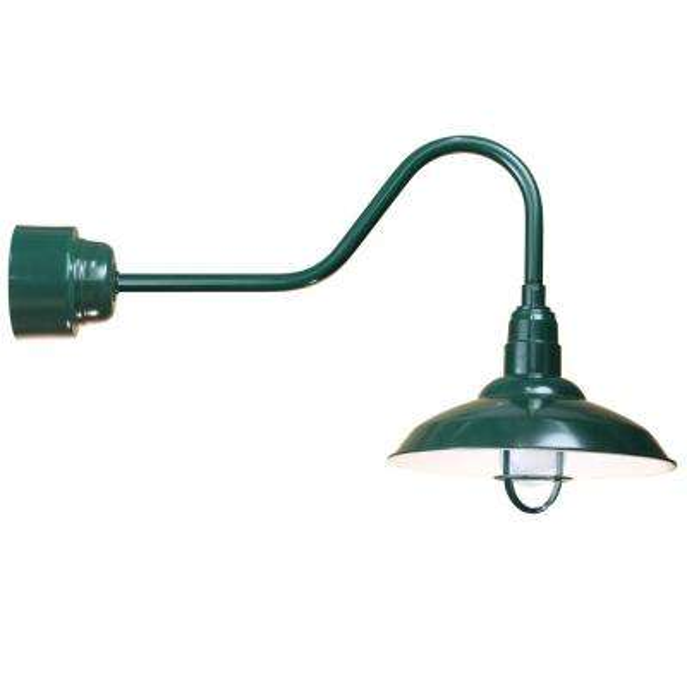 1 Light Ceiling Green Fluorescent Pendant