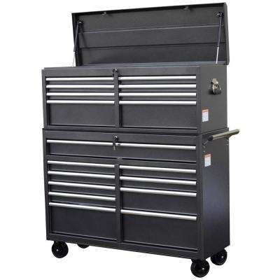 52 in. 18-Drawer Tool Chest and Cabinet Combo, Gray