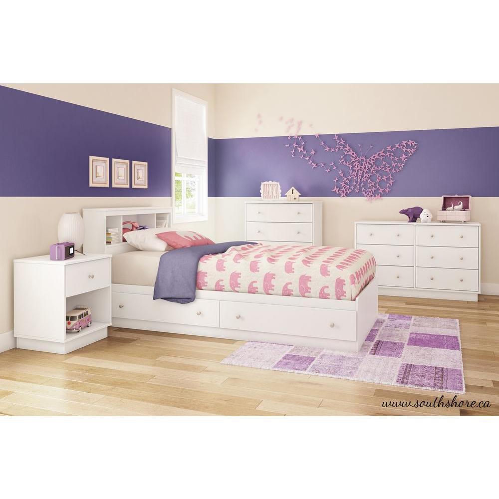 Litchi 6-Drawer Pure White Dresser