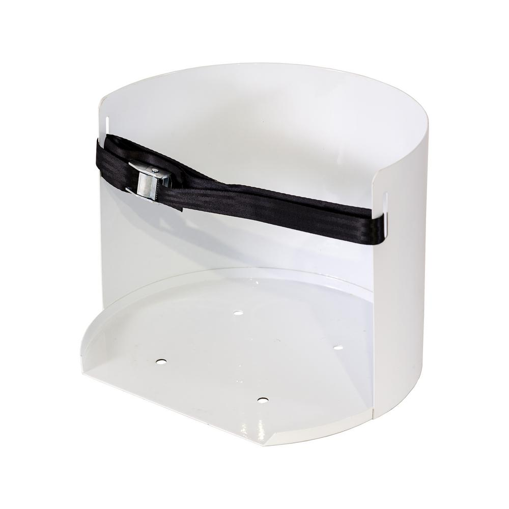 Steel Water Cooler Mount in White