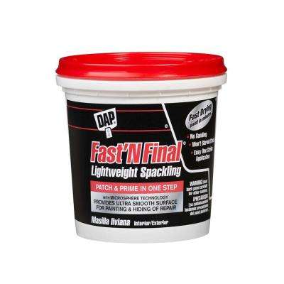 Fast'N Final 8 oz. White Lightweight Spackling (12-Pack)
