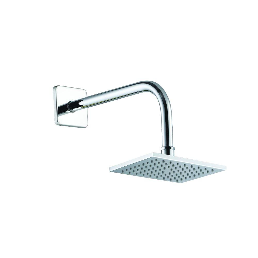 Glacier Bay 1-Spray 6 in. Square Showerhead in Chrome