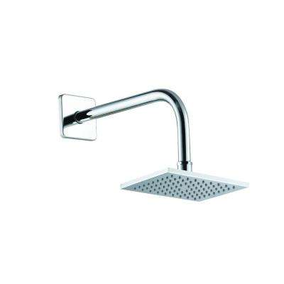 1-Spray 6 in. Square Showerhead in Chrome
