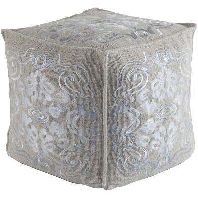 Blaris Gray Accent Pouf Ottoman