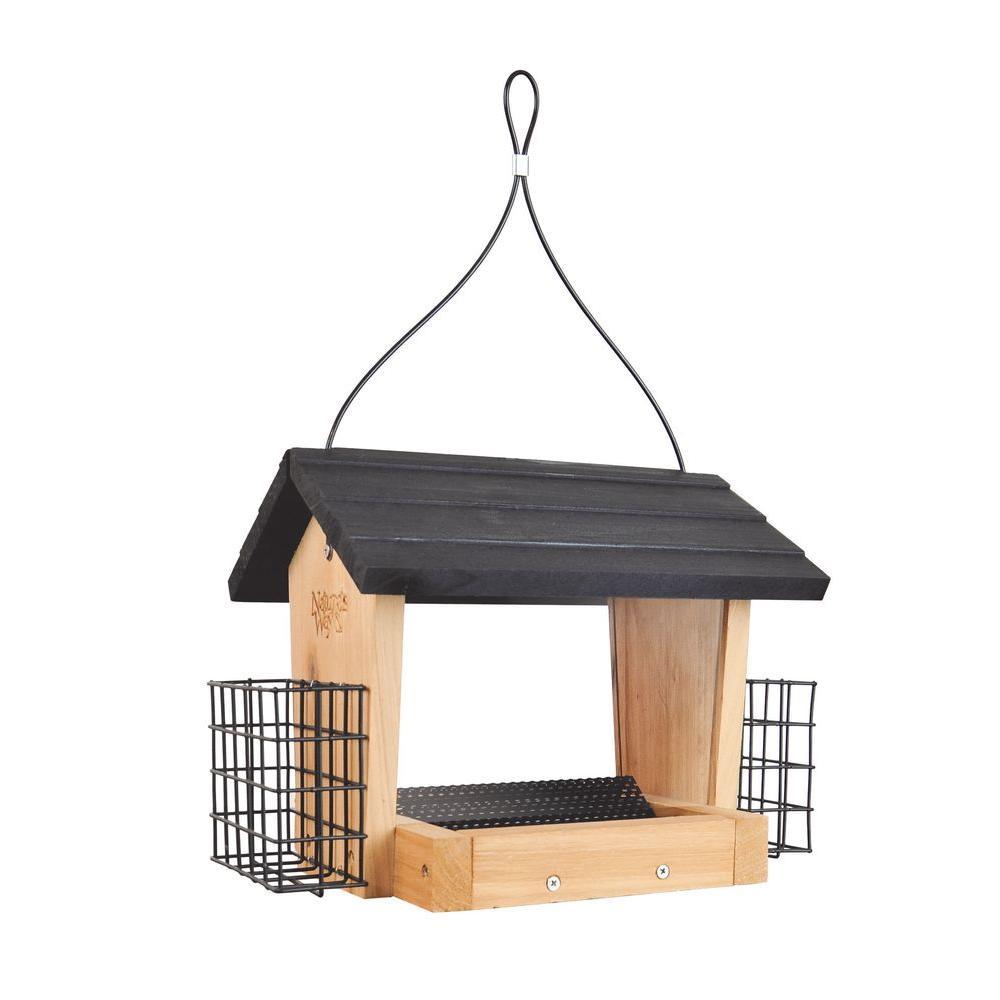 3 Qt. Cedar Hooper Bird Feeder with Suet