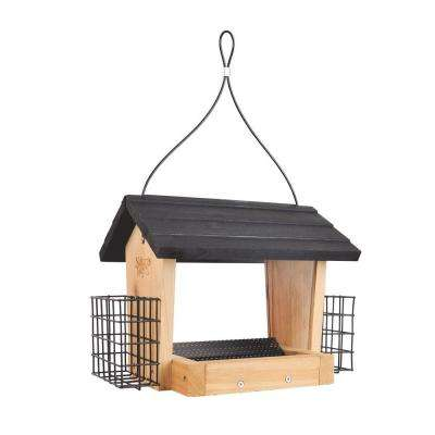 3 Qt. Cedar Hooper Bird Feeder with Suet