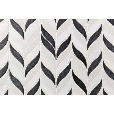Oracle Sprig Gunmetal 11-3/4 in. x 10-1/2 in. x 10mm Glazed Ceramic Mosaic Tile