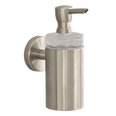 Wall-Mount Brass Soap Dispenser in Brushed Nickel