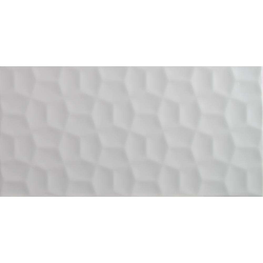 Adella 12 in. x 24 in. Viso White Glazed Ceramic Wall