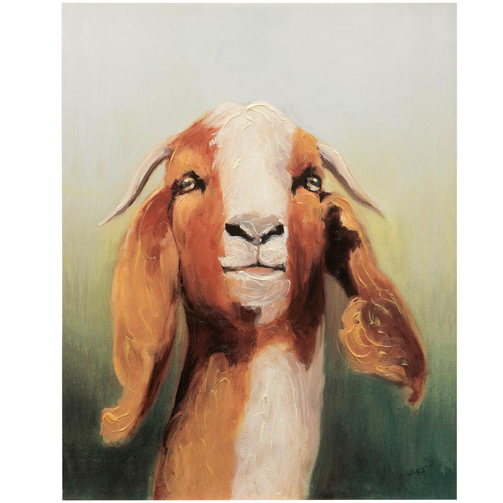 StyleCraft Hand-Painted Goat Headshot Multicolored Canvas Wall Art was $145.99 now $52.72 (64.0% off)