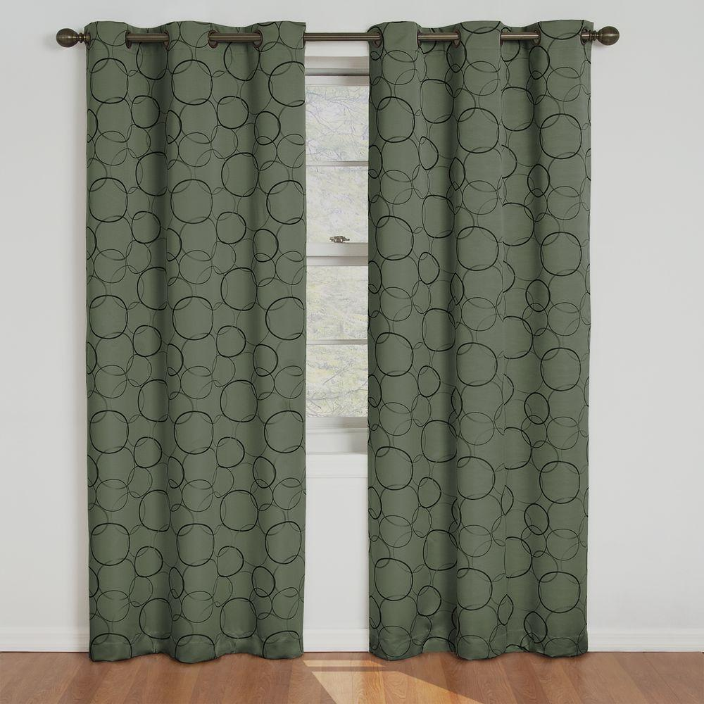 Eclipse Meridian Blackout Window Curtain Panel in Sage - 42 in. W x 84 in. L
