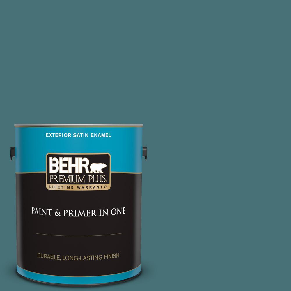 Strange Behr Premium Plus 1 Gal Ppu13 02 Juniper Berries Satin Enamel Exterior Paint And Primer In One Download Free Architecture Designs Ferenbritishbridgeorg