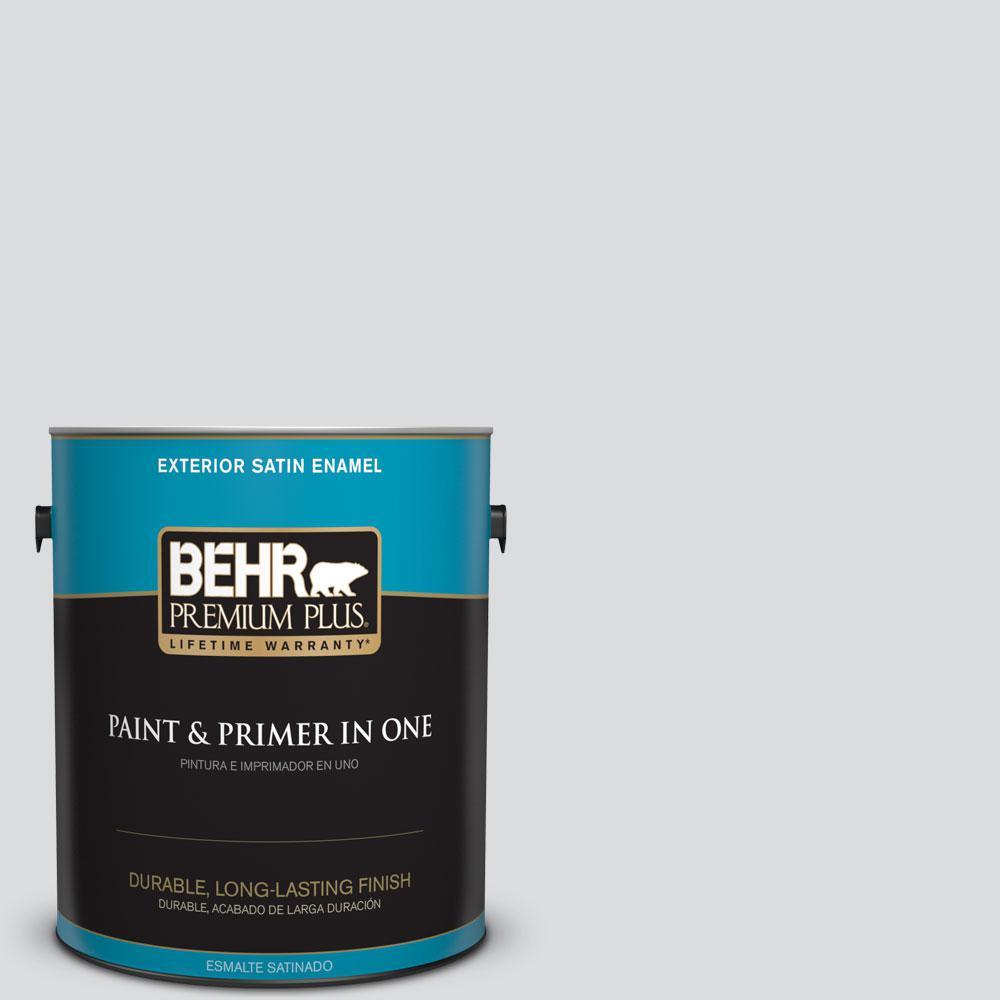1-gal. #N530-1 Pixel White Satin Enamel Exterior Paint