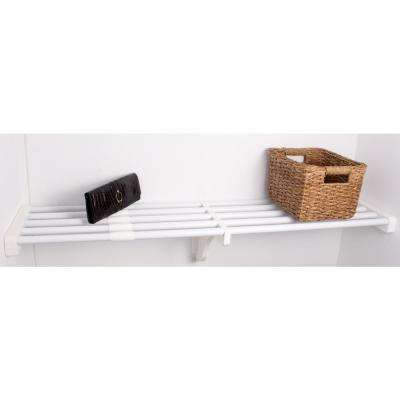 28 in. - 48 in. Expandable Small Shelf in White