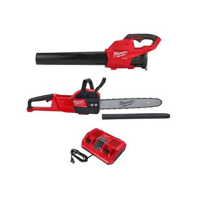 M18 FUEL 18-Volt Lithium-Ion Brushless Cordless Blower, 16 in. Chainsaw and Rapid Charger Combo Kit (3-Tool)