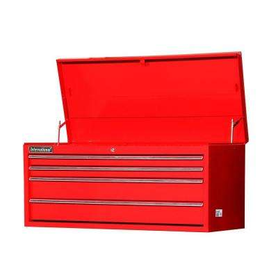 Workshop Series 42 in. 4-Drawer Top Chest, Red