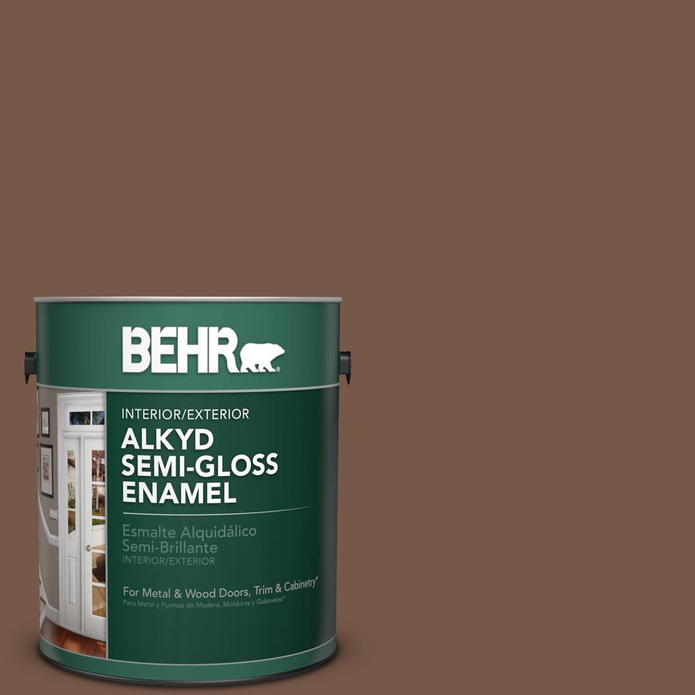 N250 7 Mission Brown Semi Gloss Enamel Alkyd Interior Exterior Paint