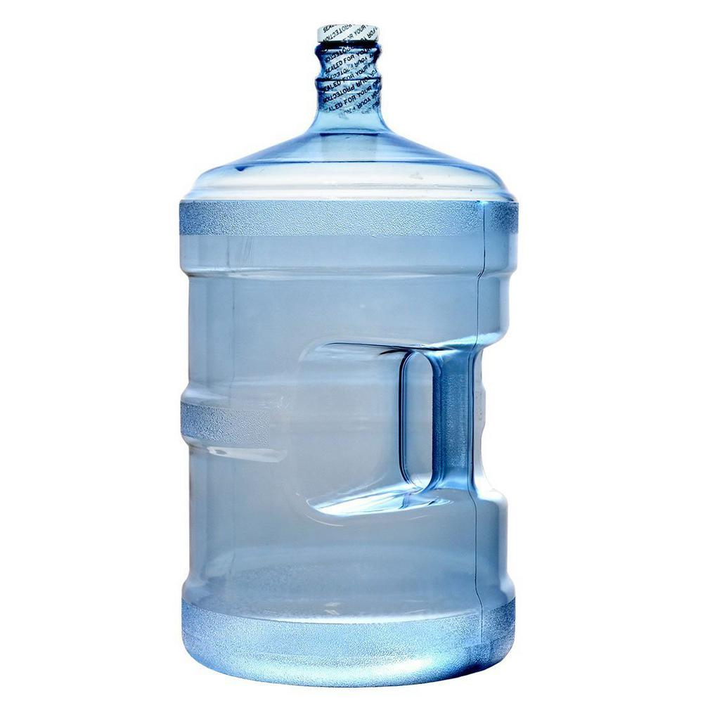 Royal Cook Clear Blue Large BPA-Free 640 oz. Water Jug Bottle PVC with Screw Cap