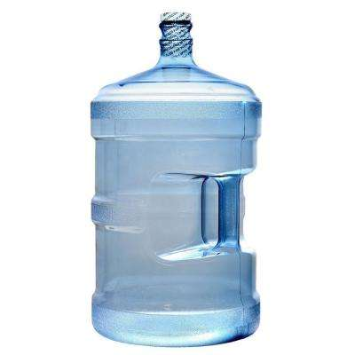 Clear Blue Large BPA-Free 640 oz. Water Jug Bottle PVC with Screw Cap