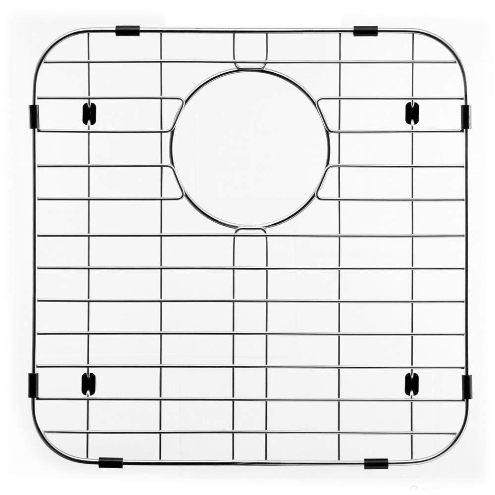 HOUZER Wirecraft 14.13 in. x 14.13 in. Bottom Grid for Kitchen Sinks in Stainless Steel