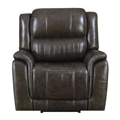 Brown Hearst Power Recliner with Power Headrest