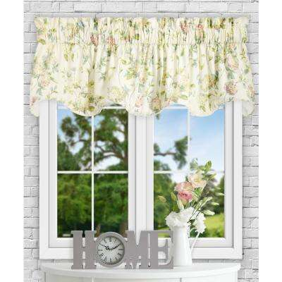 Abigail 17 in L Polyester/Cotton Lined Scallop Valance in Multi