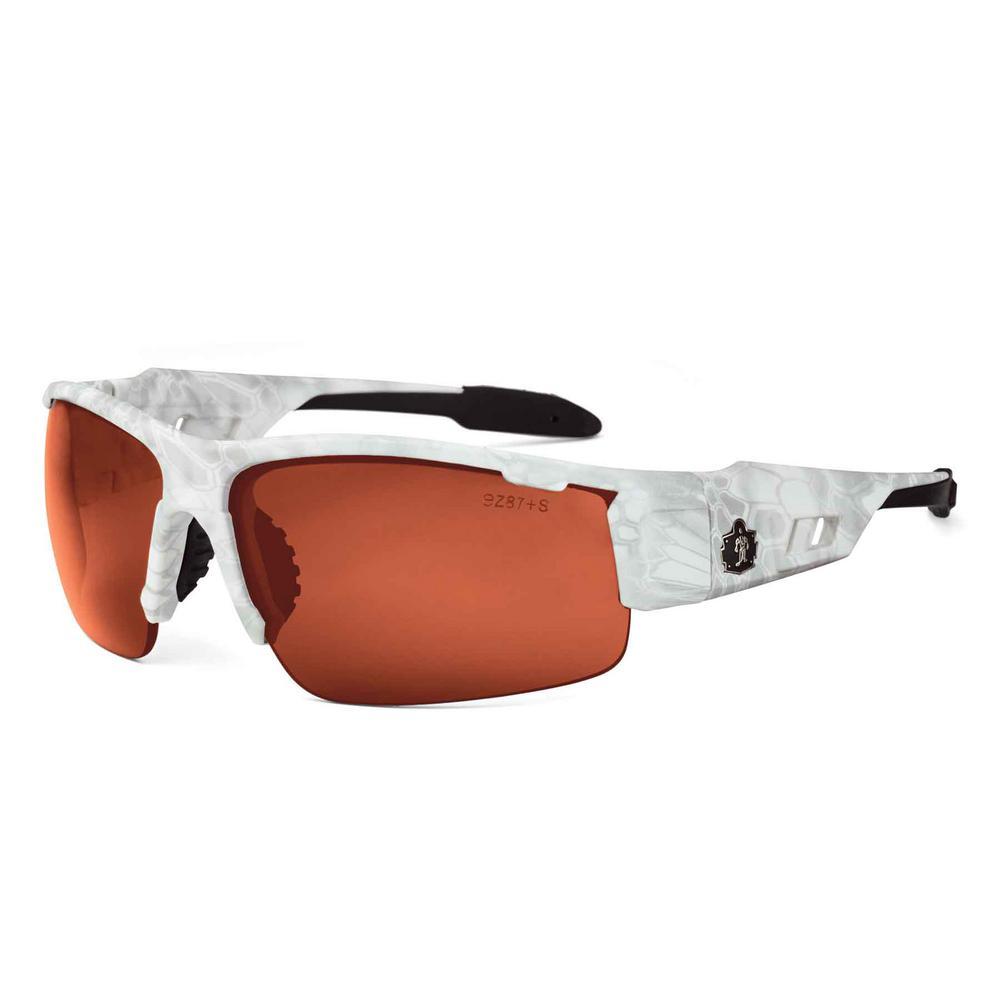 Skullerz Dagr Kryptek Yeti Safety Glasses, Tinted Lens - ANSI Certified
