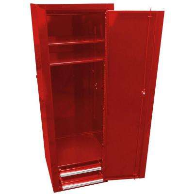 Professional 18 in. Full Height Side Locker with 2-Drawer, Red