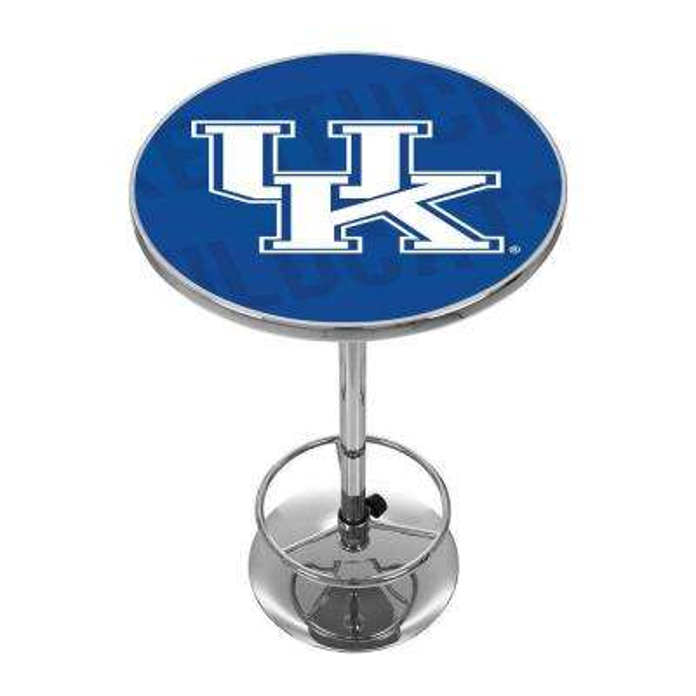 University of Kentucky Wordman Chrome Pub/Bar Table