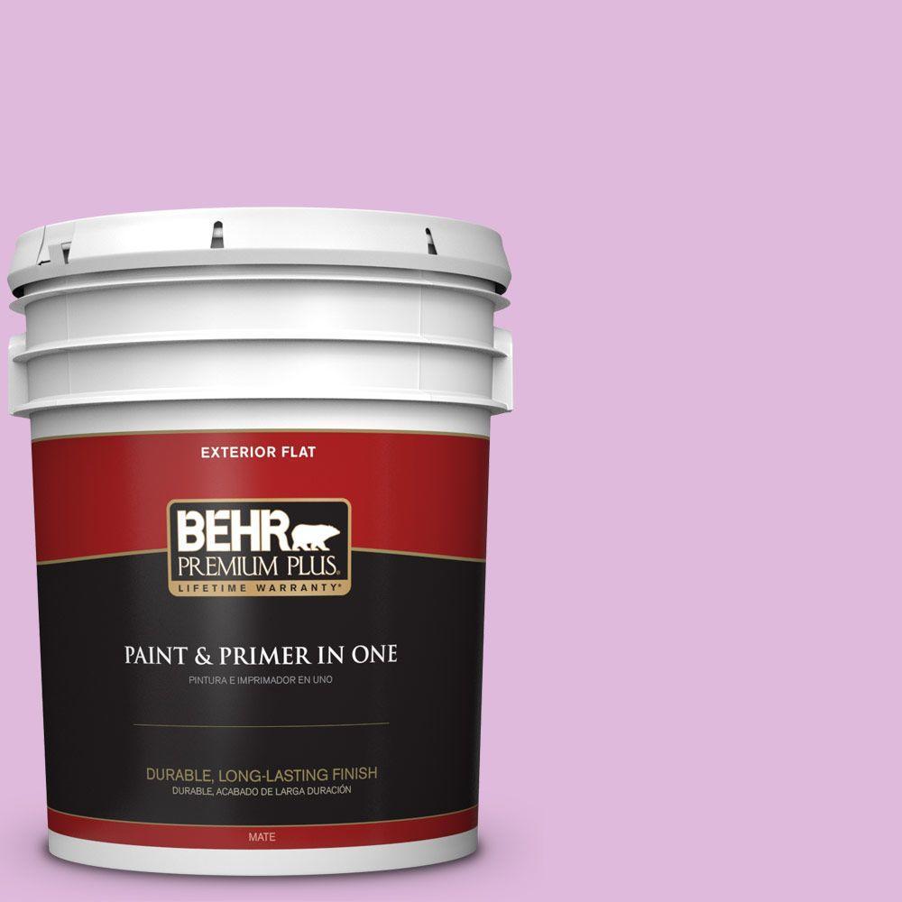 BEHR Premium Plus 5-gal. #670A-3 Posies Flat Exterior Paint