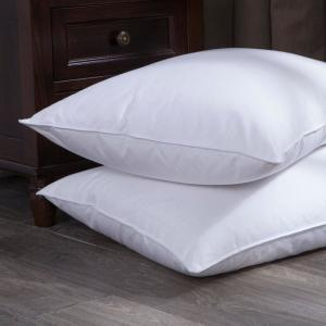 Pure Down Puredown White Goose Down and Feather Bed Lumbo Pillow in Twin Pack Standard/Queen in White by Pure Down
