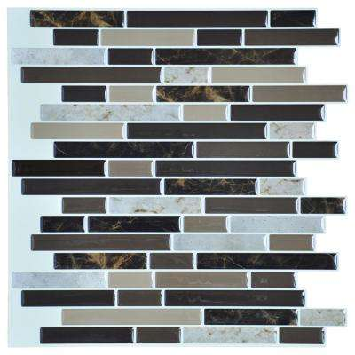 12 in. x 12 in. Peel and Stick Vinyl Backsplash Tile in Long Stone (6-Pack)