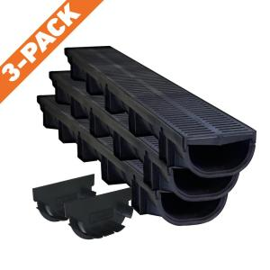 U S Trench Drain Compact Series 5 4 In W X 3 2 In D X