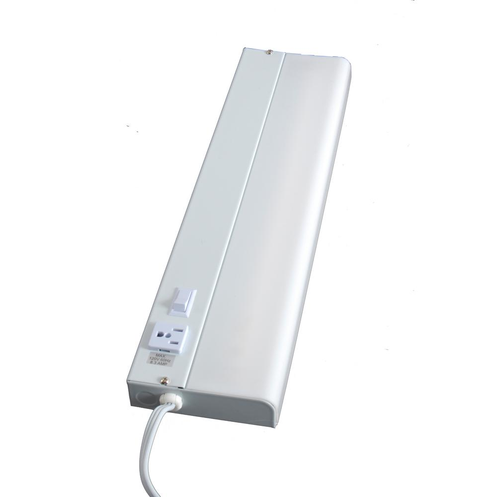 Ge 18 In Plug Fluorescent Under Cabinet With Outlet