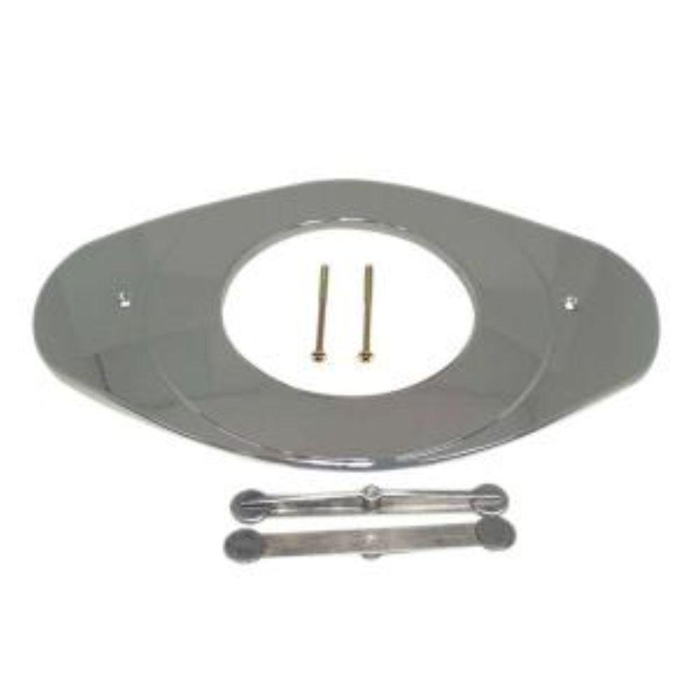 Faucet Remodeling Cover in Chrome (Grey)