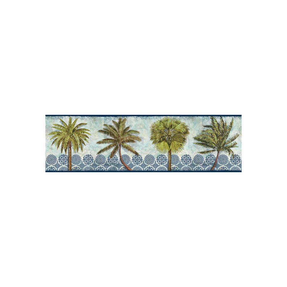 York Wallcoverings Border Portfolio II Delray Palm Border BP8175BD
