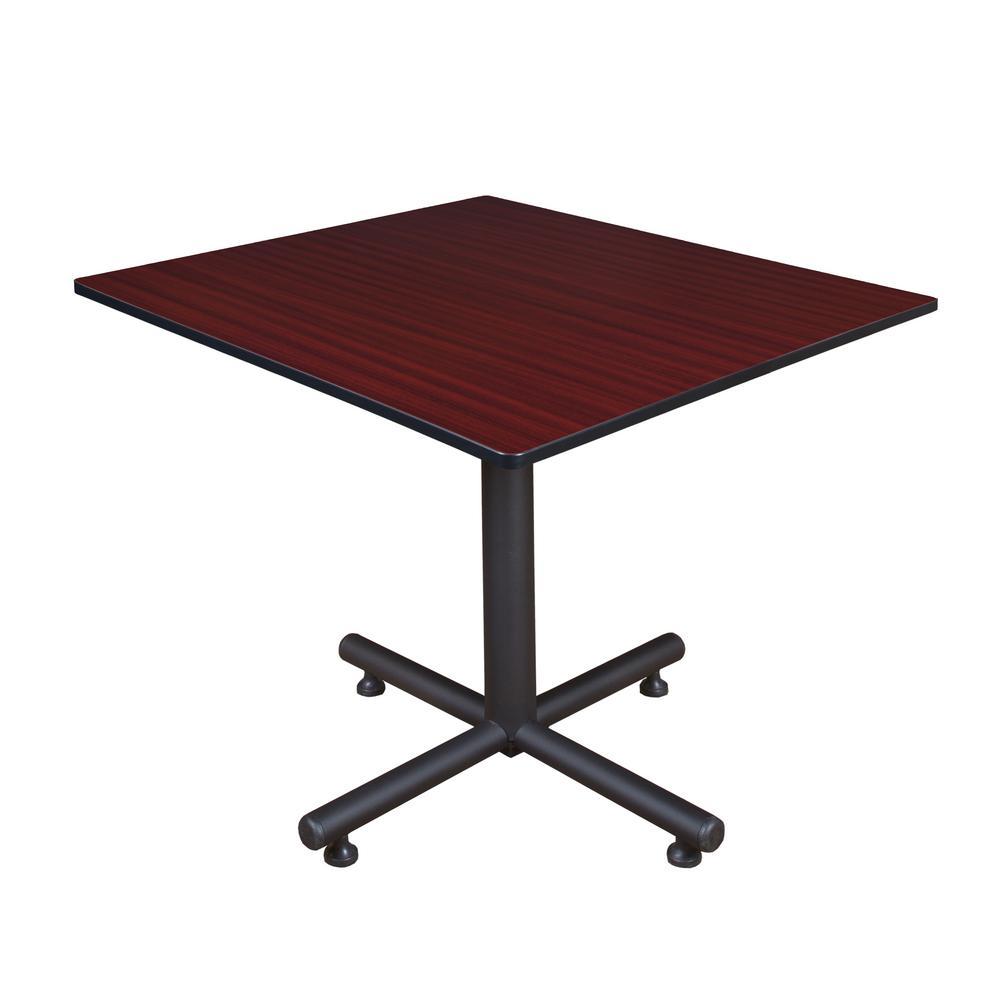 Kobe Mahogany 48 in. Square Breakroom Table