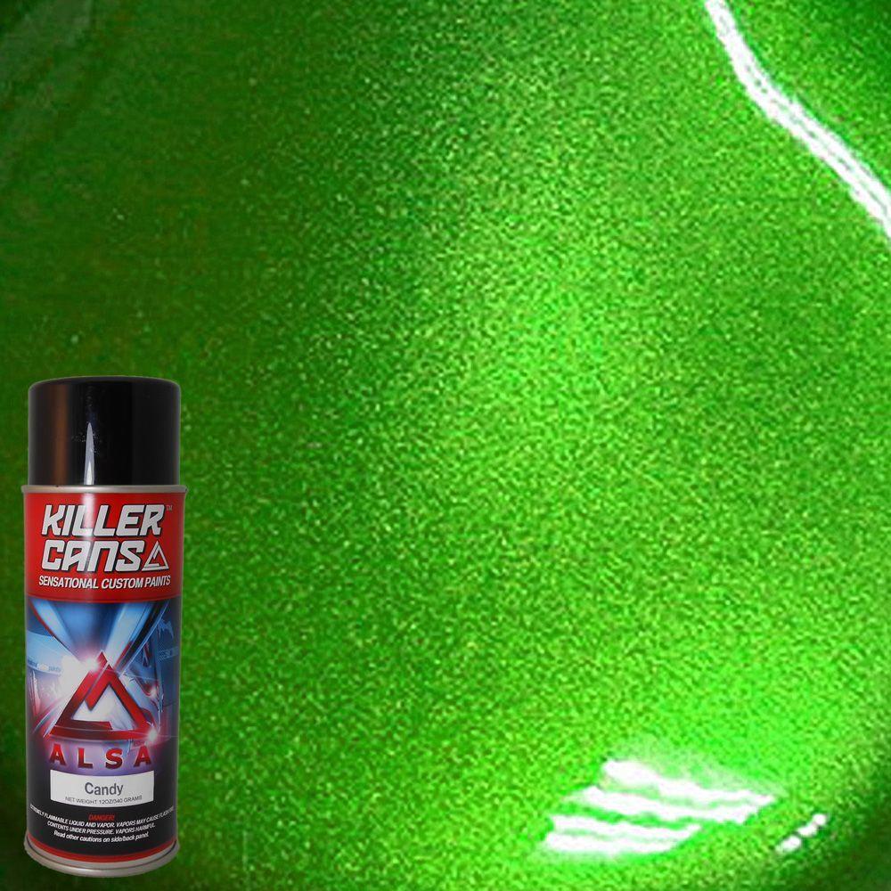Alsa Refinish 12 Oz Candy Lime Green Killer Cans Spray
