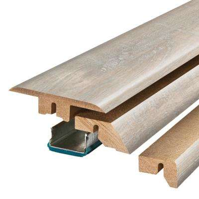 Chalked Hickory 3/4 in. Thick x 2-1/8 in. Wide x 78-3/4 in. Length Laminate 4-in-1 Molding