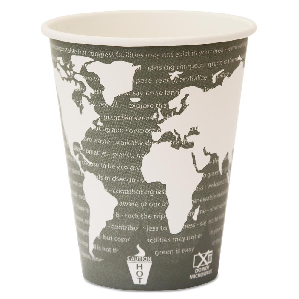 12 oz. World Art Renewable Resource Compostable Hot Drink Cups in