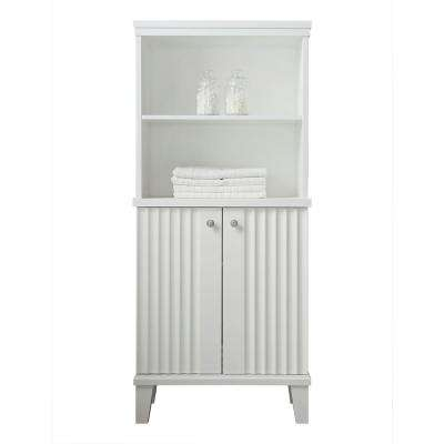 Parker 26.56 in. W x 14.19 in. D x 60 in. H Double Door Tall Side Unit in White