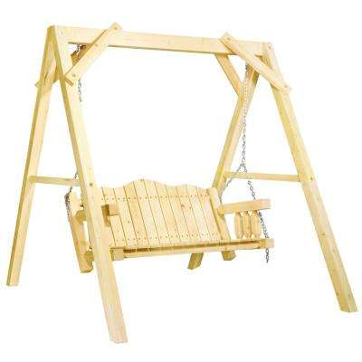 Homestead 2 Person Exterior Finish Wood Patio Swing