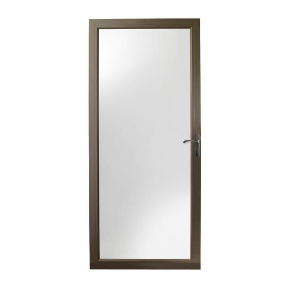 36 in. x 80 in. 3000 Series Terratone Right-Hand Fullview Easy Install Storm Door with Oil-Rubbed Bronze Hardware