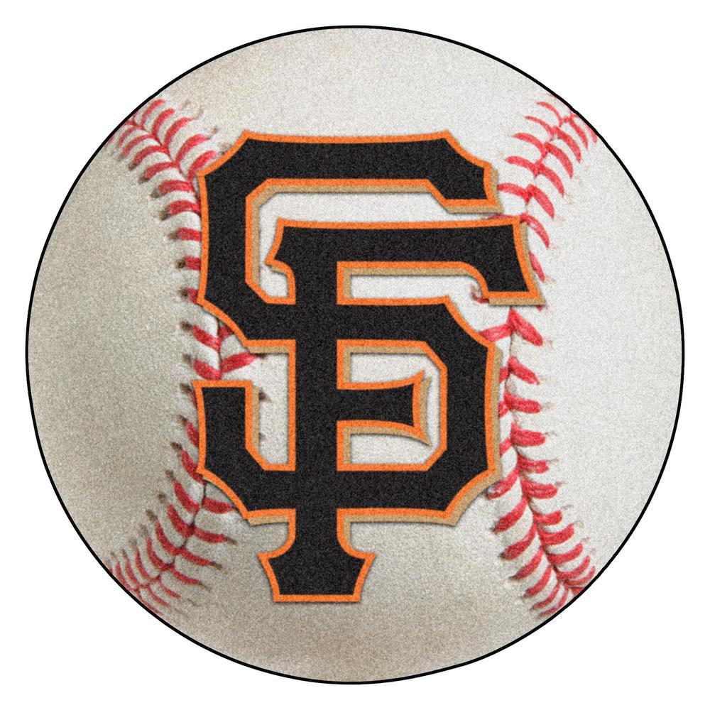 MLB San Francisco Giants Photorealistic 27 in. Round Baseball Mat