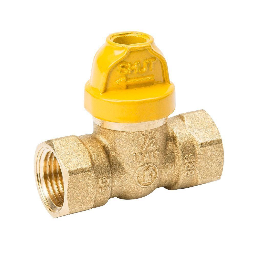 1/2 in. Brass SureOff Gas Ball Valve