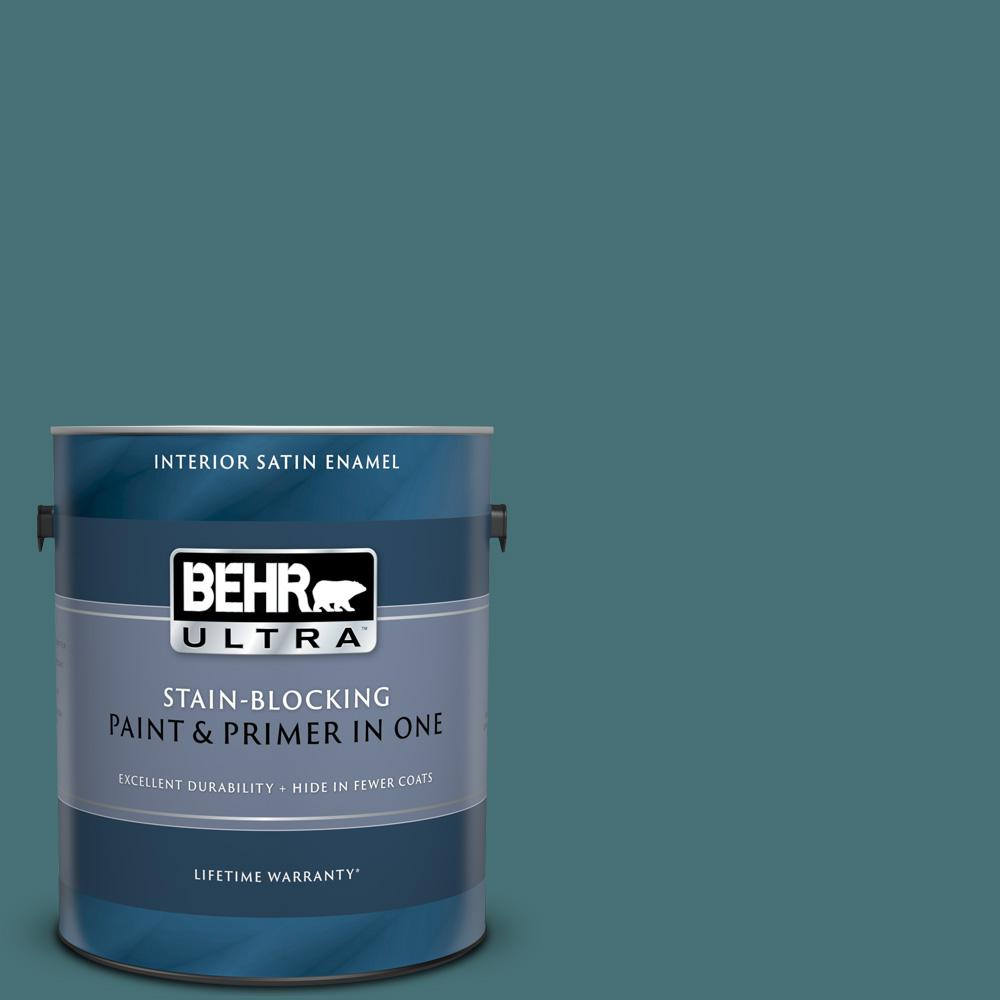Miraculous Behr Ultra 1 Gal Ppu13 02 Juniper Berries Satin Enamel Interior Paint And Primer In One Home Interior And Landscaping Ferensignezvosmurscom