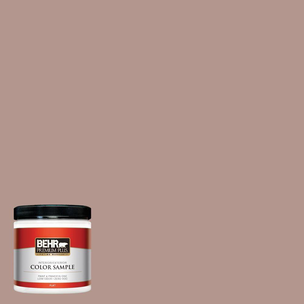 8 oz. #N160-4 Sonora Rose Flat Interior/Exterior Paint and Primer in
