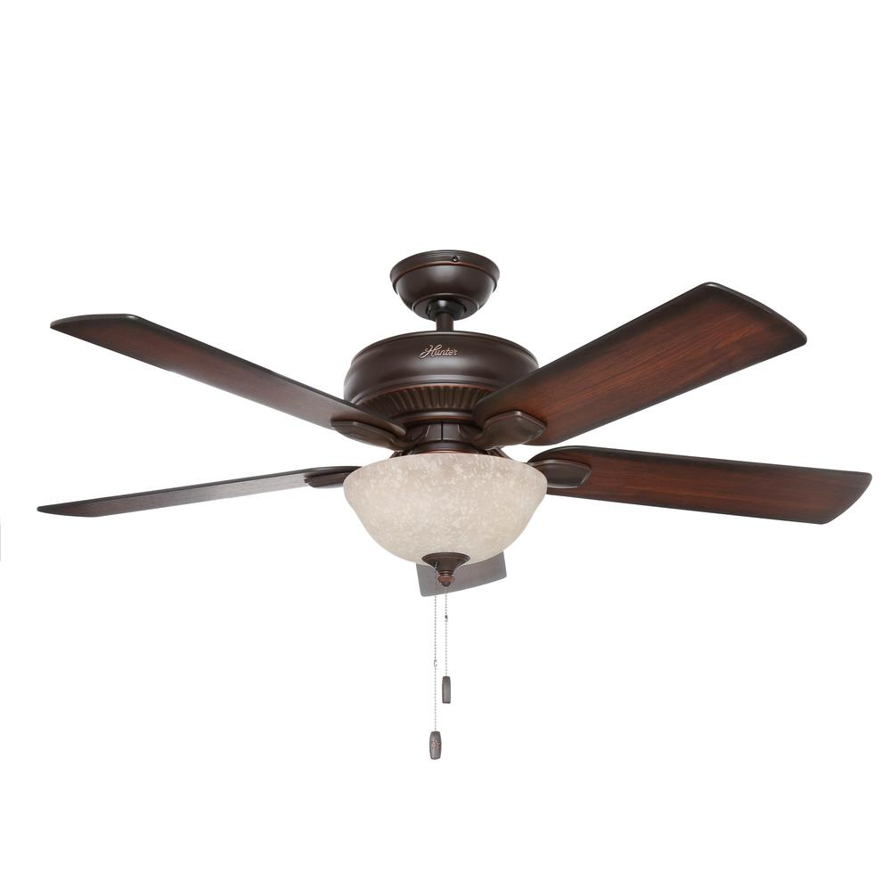 hunter ceiling fan light kit matheston 52 in indoor onyx bengal bronze ceiling 10655